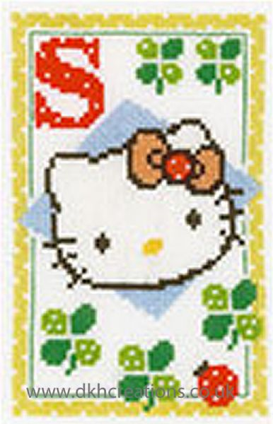 Hello Kitty Alphabet Letter S Cross Stitch Kit